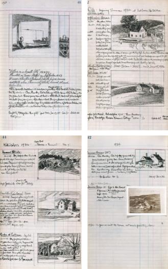 Cuaderno de dibujo de Edward Hopper