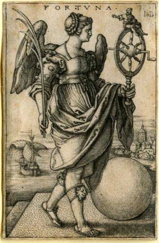 La Fortuna. Grabado de Hans Sebald Beham (siglo XVI)