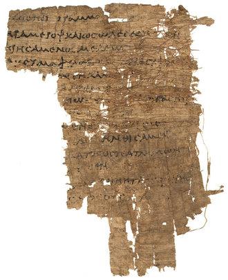 Papiro del siglo I ¿Epigrama funeral?