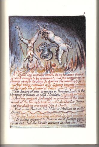El Matrimonio del Cielo y el Infierno de William Blake (Fragmento)