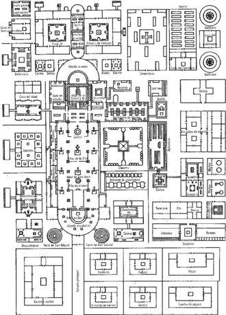 Plano del Monasterio de Saint-Gall. Año 820 d.C.