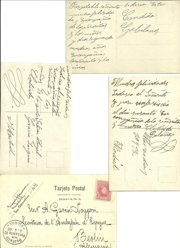 Recados de Escribir 1905 (Reversos)