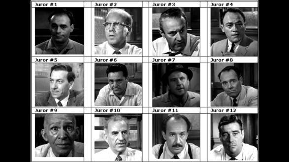 Los jurados de la película dirigida por Sidney Lumet