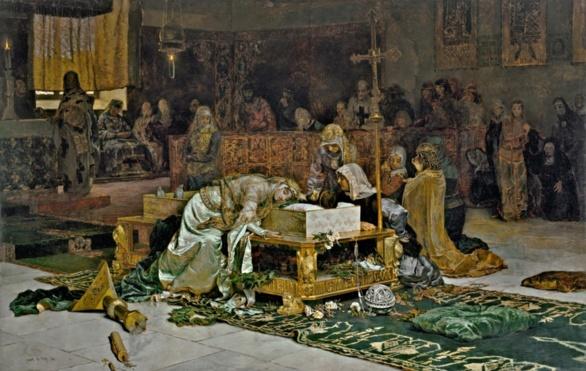 Los amantes de Teruel. Óleo de Antonio Muñoz Degrain 1884