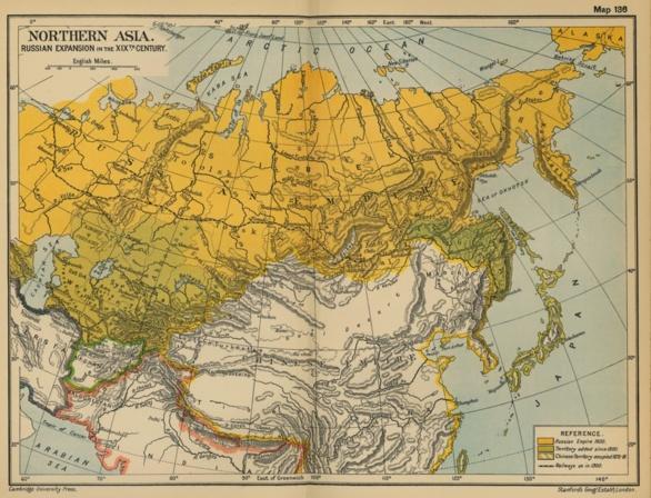 Mapa de Rusia en el siglo XIX