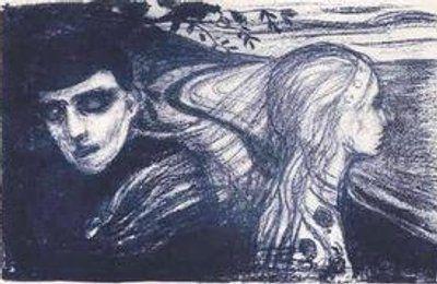 La Separación (Litografía) Edvard Munch