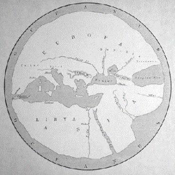 Mapa de Hecateo de Mileto (ca. 500 a.C.)
