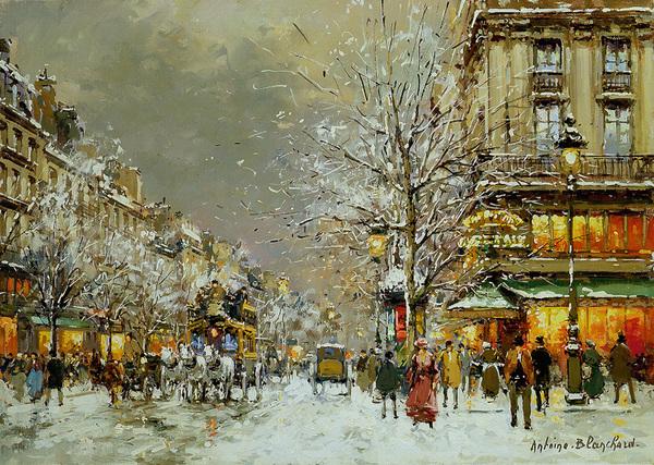 Boulevard des Capucines et Café de la Paix. Antoine Blanchard