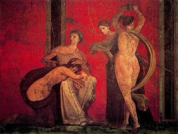 Escena de la flagelación y baile de la bacante desnuda (no sé por qué pongo esta imagen quizá por eso la pongo. Aunque ahora que la veo y lo pienso un poco más: flagelación y baile, tengan una relación inconsciente y clara con lo que  he escrito)