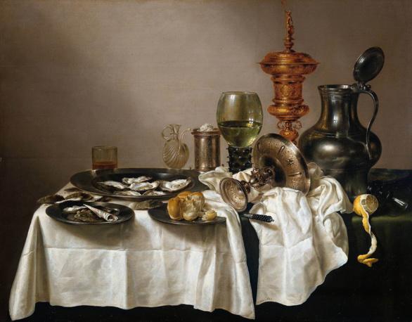 Naturaleza muerta con copa dorada de Willem Claeszoon Heda 1635
