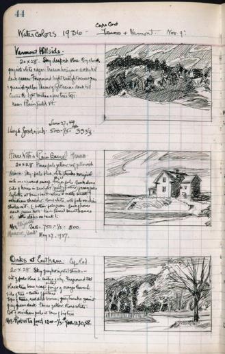 Cuaderno de dibujo de Edward Hopper 1936