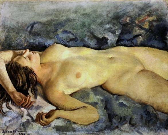 Desnudo tumbado. Zinaida Serebriakova 1927