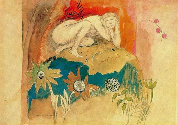 Tentation de Odilon Redon 1912