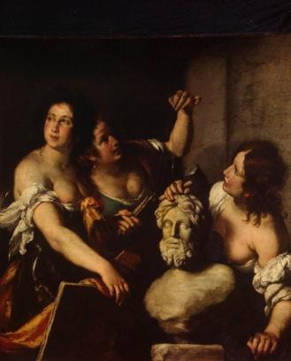 Alegoría de las Artes de Bernardo Strozzi 1640