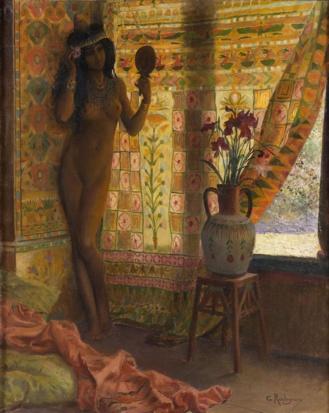 Le miroir George Antoine Rochegrosse 1886