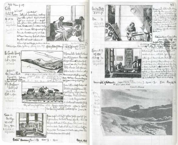 Cuaderno de dibujo de Edward Hopper 1931-1932