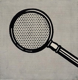 Roy Lichtenstein Magnifying glass