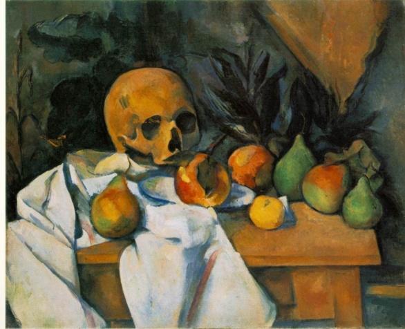 Naturaleza muerta con cráneo de Paul Cezanne 1898