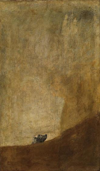 El Perro de Francisco de Goya 1819-1823