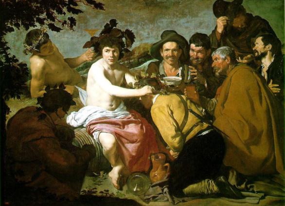 Los Borrachos - en realidad El Triunfo de Baco- de Diego Velázquez 1628-1629