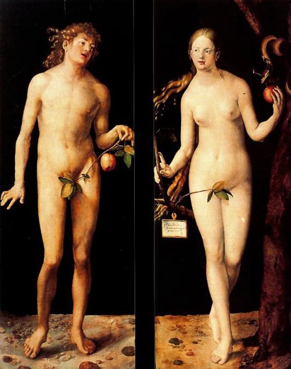 Eva y Adán de Alberto Durero. 1507