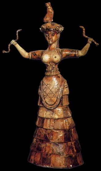 Confinamiento 3. Diosa encorsertada de las serpientes. Creta entre 2000-1700 a.C.