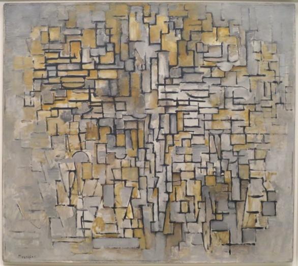 Piet Mondrian. Cubismo. Cuadro nº 2. Composición nº VII. 1913