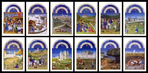 Iluminaciones de El libro de las horas del Duque de Berry. ca. 1410