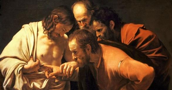 La incredulidad de Santo Tomás. Caravaggio. 1602
