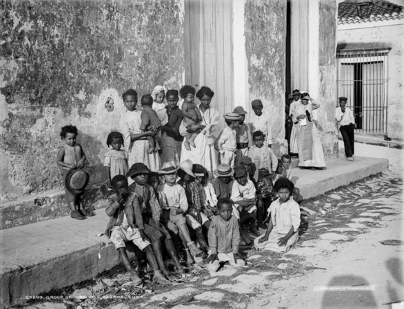 Niños de La Habana en 1900