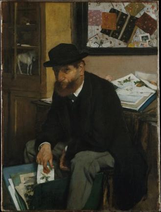 El coleccionista de postales de Edgard Degas 1866