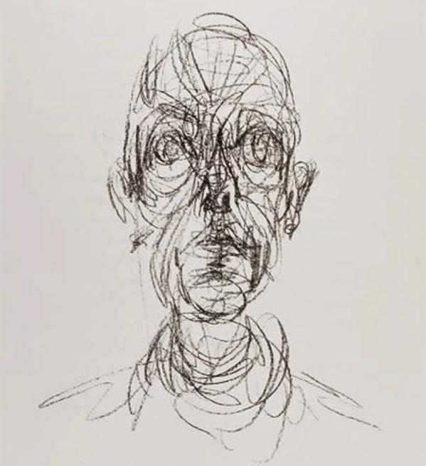 Rostro. Dibujo de Alberto Giacometti