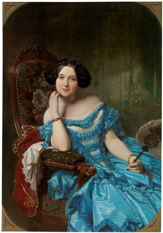Amalia de Llano y Dotres, condesa de Vilches. Federico Madrazo. 1853