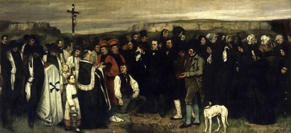 Entierro en Ormans de Gustave Courbet. 1849