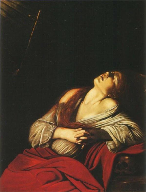 María Magdalena en éxtasis. Caravaggio. 1610