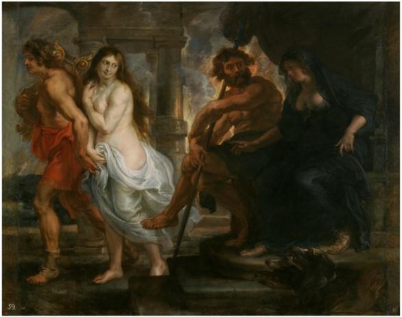 Orfeo y Eurídice de Pedro Pablo Rubens. 1636-1638