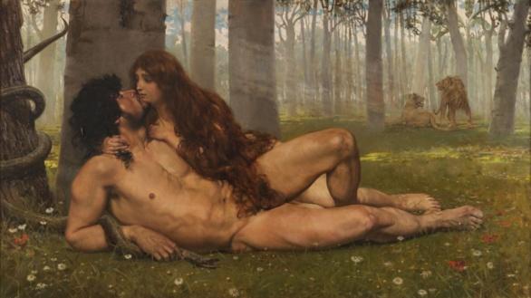 El primer beso de Salvador Viniegra. 1891. Exposición Arte Incómodo del Museo del Prado.