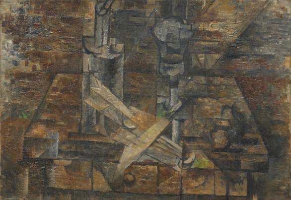 La mesa (Naturaleza muerta con ventilador). Georges Braque. 1910