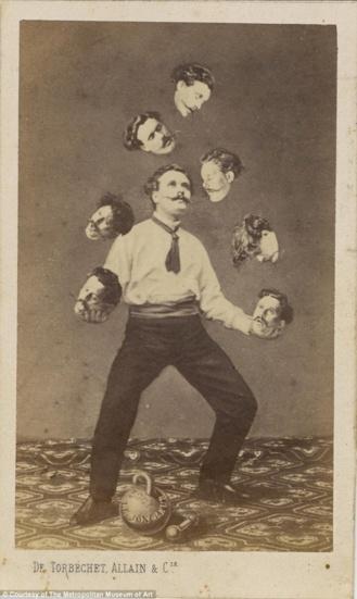 Allain Torbechet: Un hombre haciendo malabares con su propia cabeza (1880)