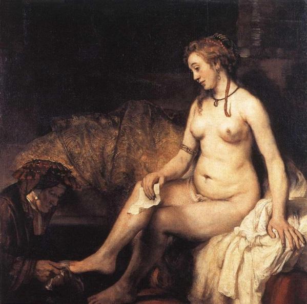 Bathsheba with David's letter Rembrandt  (1654)