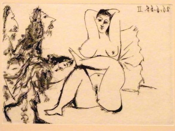 Grabado de la Suite 347 de Pablo Picasso. 1968