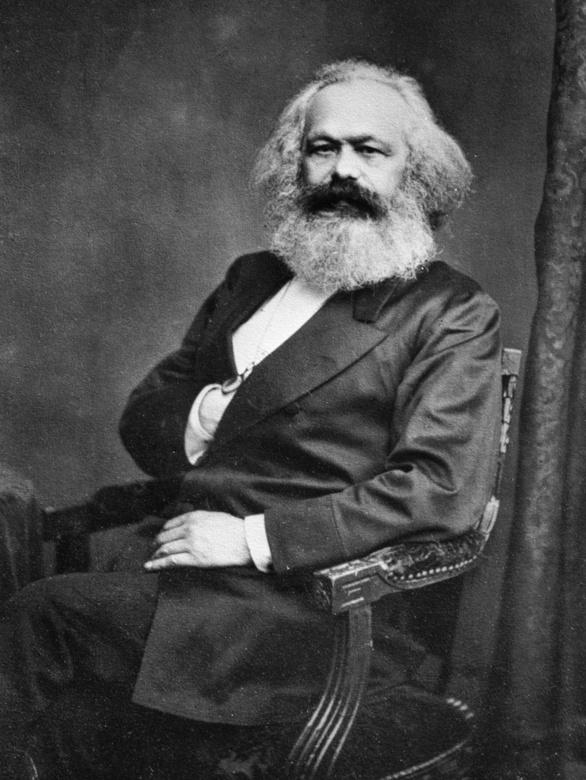 Retrato de Karl Marx. Fotografía de John Jabez Edwin Mayal realizada el 25 de agosto de 1875