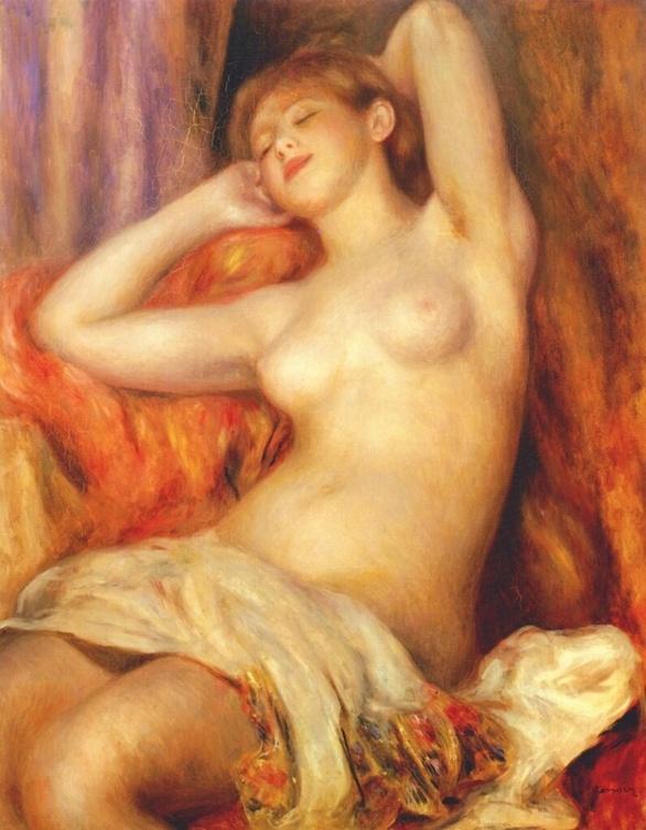 La baigneuse endormie par Auguste Renoir. 1897