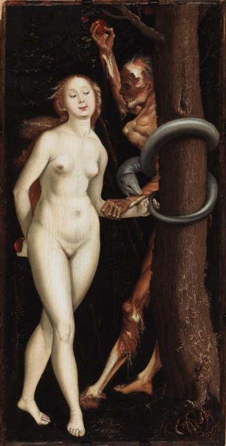 Eva, la serpiente y la muerte de  Hans Baldung Grien. 1510