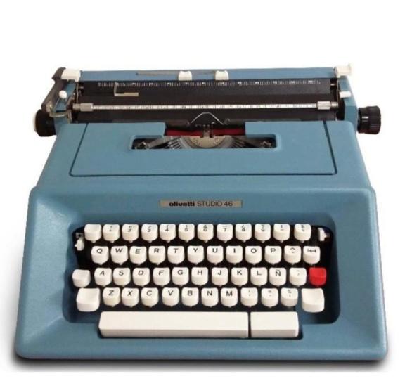Mi máquina de escribir. Regalo de Julia en noviembre de 1978