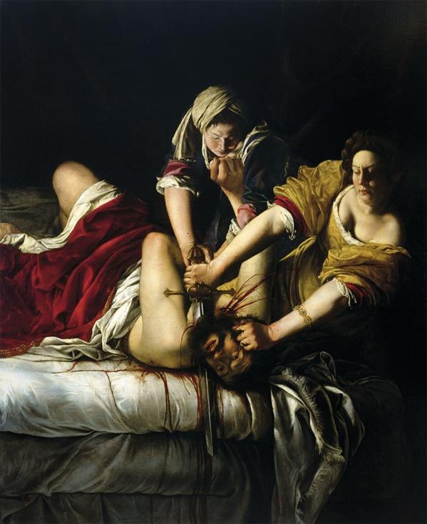 Judith decapitando a Holofernes de Artemisia Gentileschi. 1613