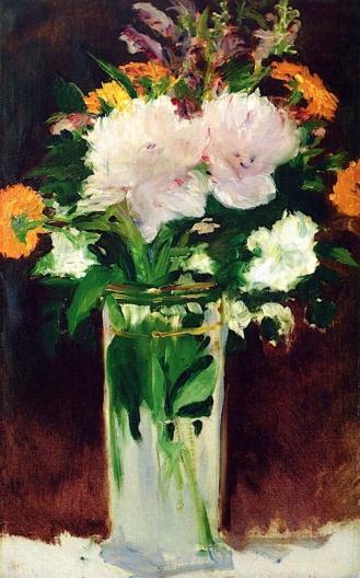 Para A. Flores en un jarrón de Edouard Manet (1882)