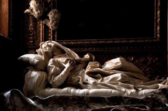 Éxtasis de la beata Ludovica Albertoni de Gian Lorenzo Bernini