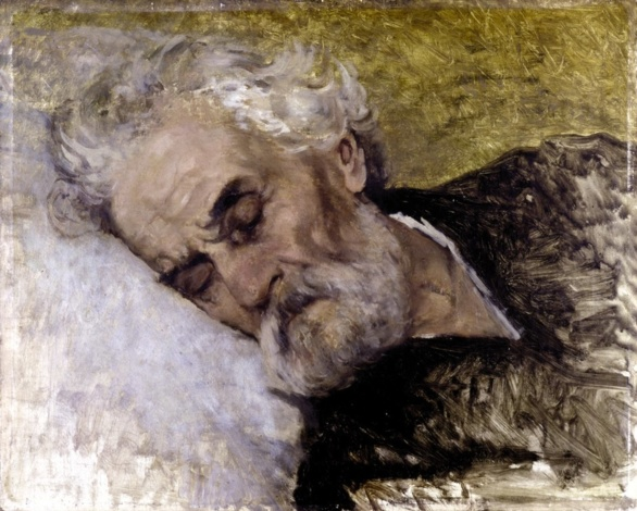 Studio di testa per gli ultimi momenti de Giuseppe Mazzini (1872)