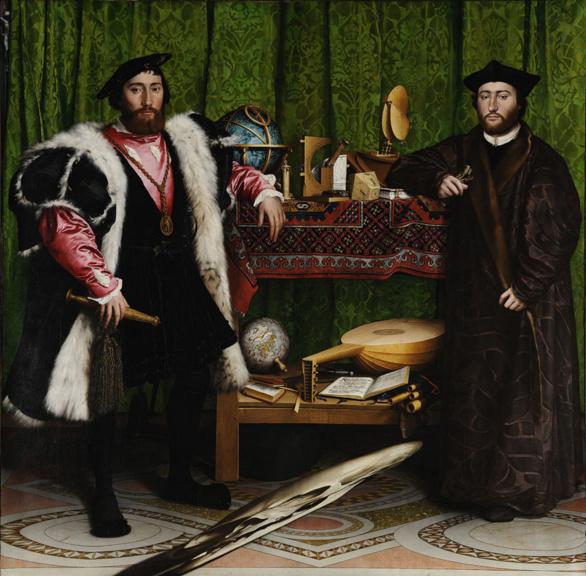 Los Embajadores pintado por Hans Holbein el Joven (1553)